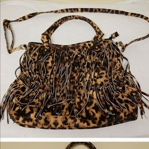 Handbags - Leopard crossbody purse